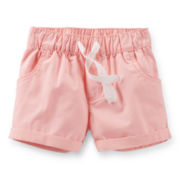 Carter's® Pink Poplin Shorts - Girls 6-24m