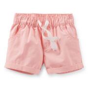 Carter's® Pink Poplin Shorts – Girls 6-24m