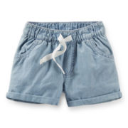 Carter's® Chambray Poplin Shorts - Girls 6-24m
