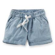Carter's® Chambray Poplin Shorts - Girls 6-24m