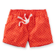 Carter's® Red Polka Dot Poplin Shorts - Girls 6-24m
