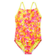 Speedo® 1-pc. Dynamic Love Splice Swimsuit - Girls 7-16