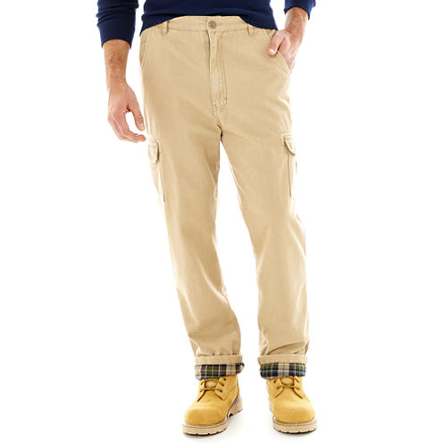 Stanley® Flannel-Lined Twill Cargo Pants