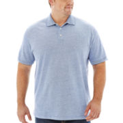 The Foundry Supply Co.™ Short-Sleeve Oxford Piqué Polo–Big & Tall