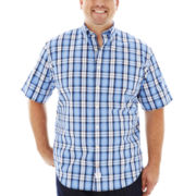 IZOD® Short-Sleeve Saltwater Poplin–Big & Tall
