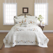 Alice Embroidered Bedspread & Accessories