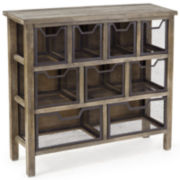 Industrial Storage Console Table