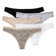Ambrielle® 5-Pk. Cotton Thong Panties
