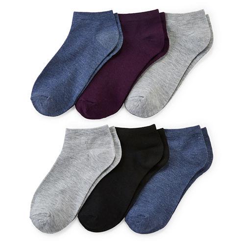 Mixit™ Womens 6-pk. Flat Knit Low-Cut Socks