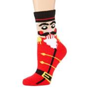 Womens Ugly Sweater Christmas Tree Crew Socks