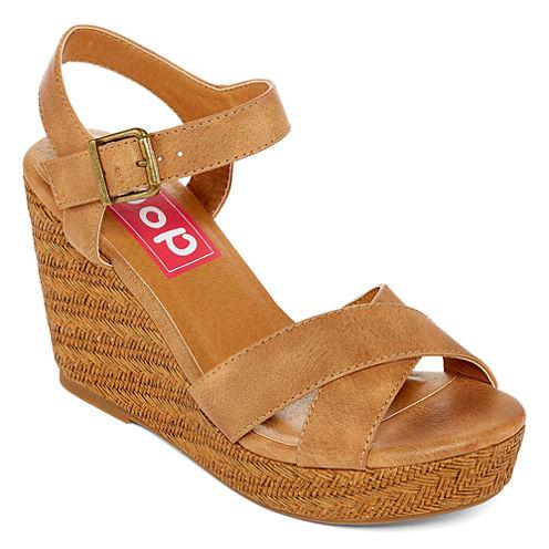 Pop Rowland Womens Wedge Sandals