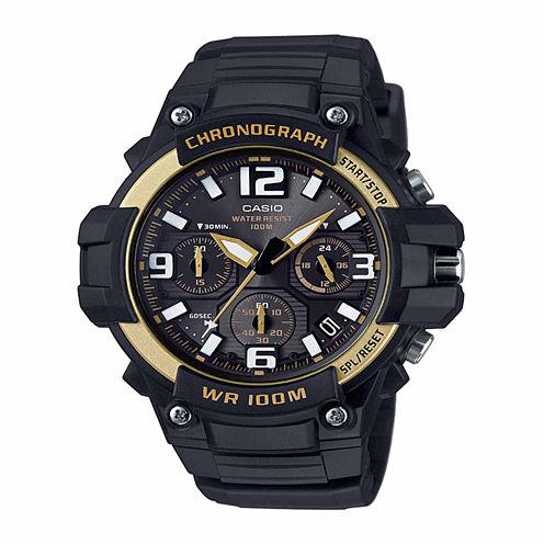 Casio Mens Black Strap Watch-Mcw100h-9a2v