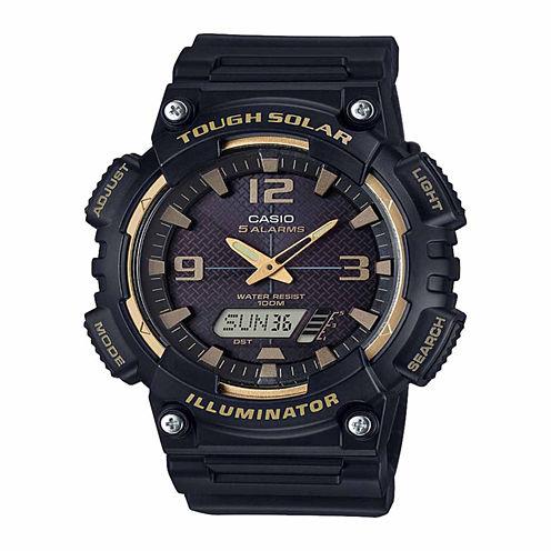 Casio Mens Black Strap Watch-Aqs810w-1a3v
