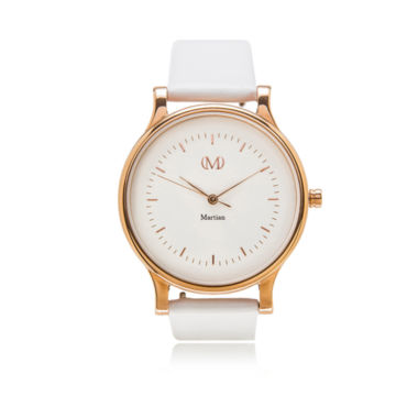 jcpenney.com | Martian Womens White Leather Band Smart Watch-Mps01cl015
