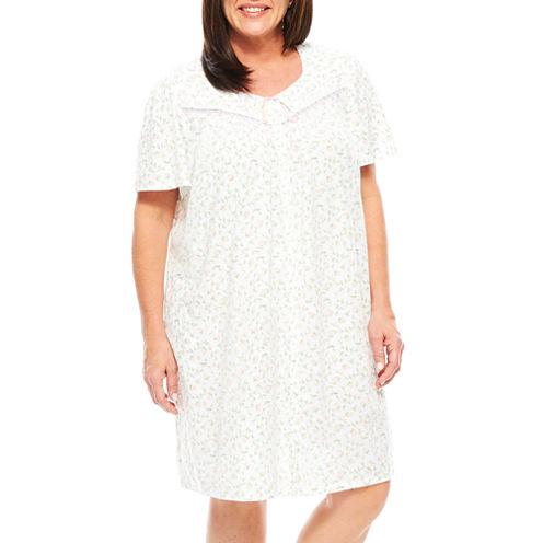 Adonna Jersey Short Sleeve Nightgown-Plus