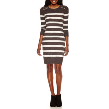 jcpenney.com | Studio 1 3/4 Sleeve Sweater Dress