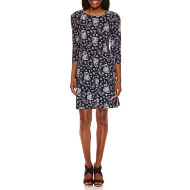 jcpenney.com | Madison Leigh Elbow Sleeve Paisley Swing Dress