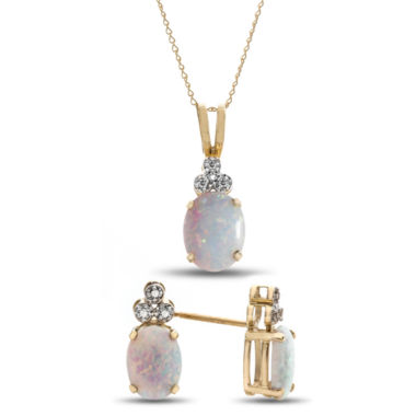 jcpenney.com | Womens 2-pc. Opal Sterling Silver Jewelry Set