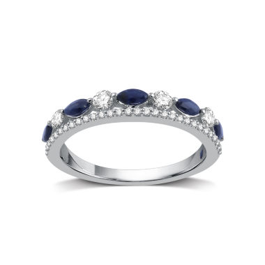 jcpenney.com | I Said Yes Womens 1/3 CT. T.W. Blue Sapphire Platinaire Band