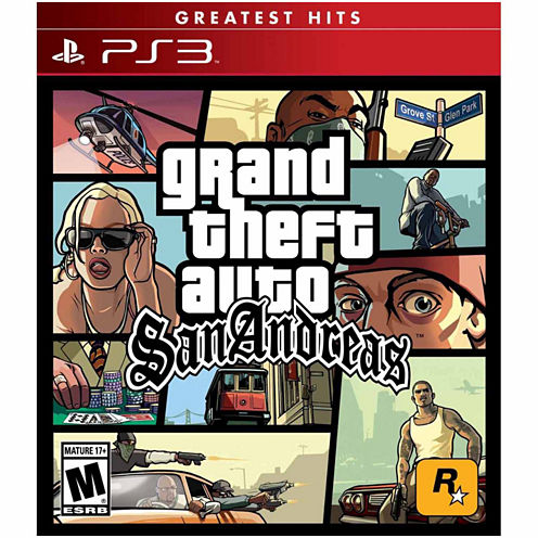 Grand Theft Auto San Andreas Video Game-Playstation 3