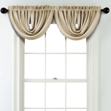jcpenney.com | JCPenney Home Textured Blackout Rod Pocket Unlined Waterfall Valance