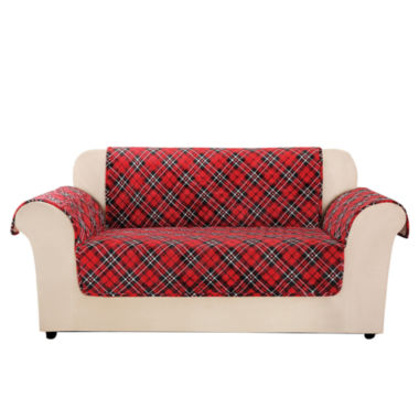 jcpenney.com | SURE FIT® Holiday Furniture Cover Loveseat