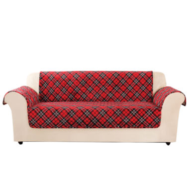 jcpenney.com | SURE FIT® Holiday Furniture Cover Sofa