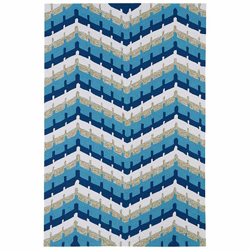 Kaleen Home And Porch Chevron Hand Tufted Rectangular Rugs