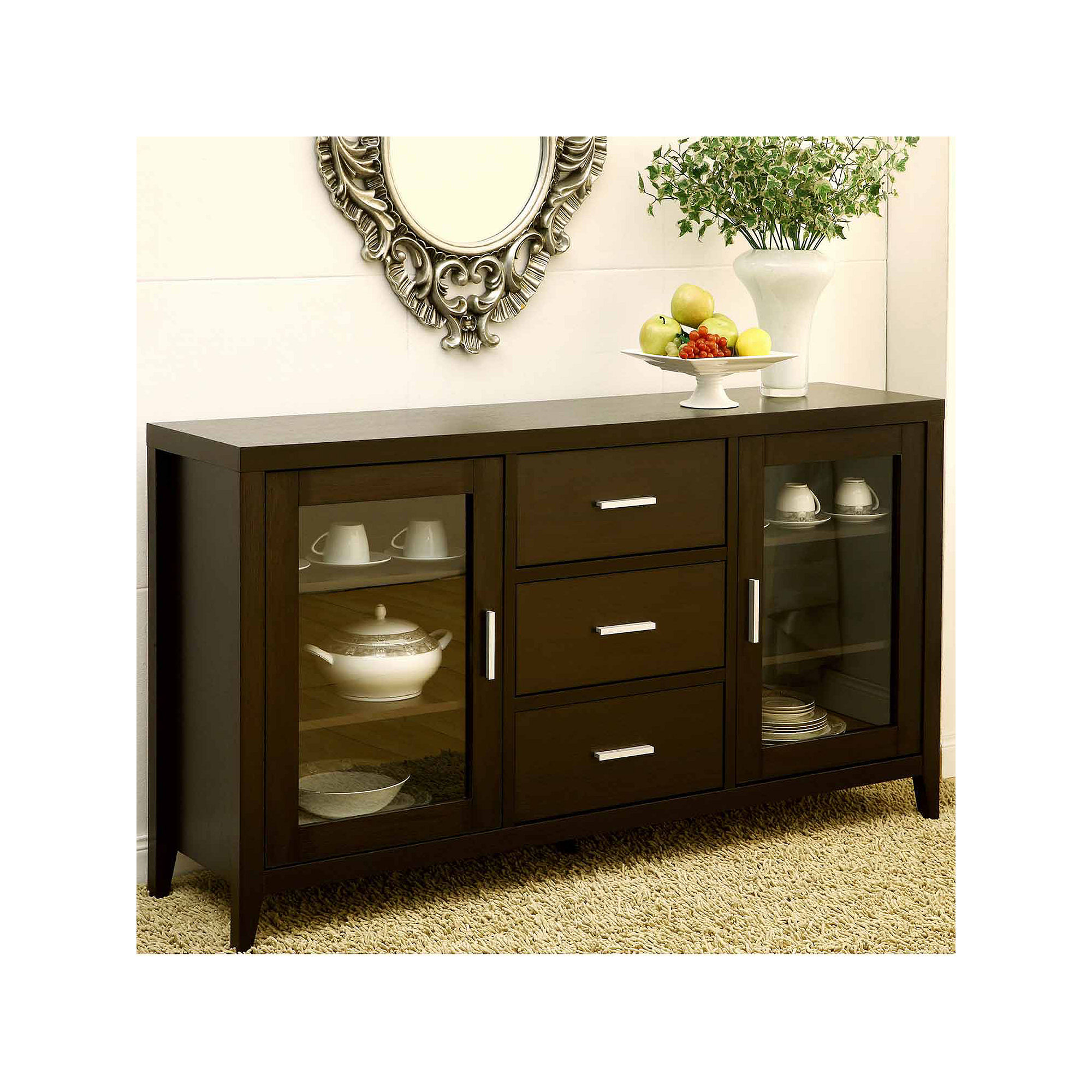 Weexer Buffet with Glass Cabinets