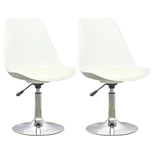 Adjustable Leatherette 2-pc. Bar Stool