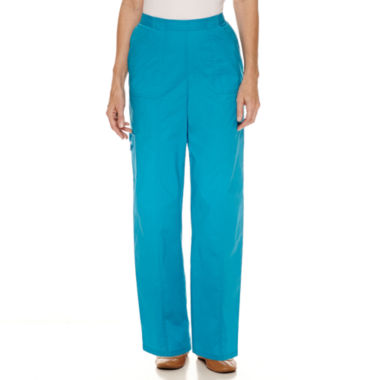 jcpenney.com | Alfred Dunner Tropical Vibe Woven Flat Front Pants
