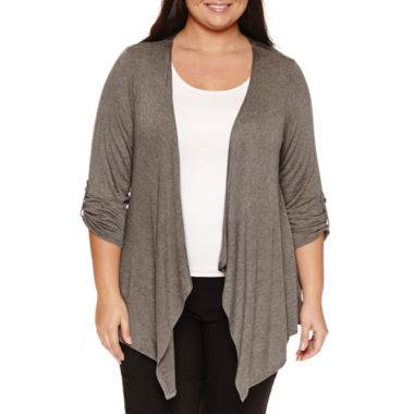 jcpenney.com | Alyx 3/4 Sleeve Cardigan Plus