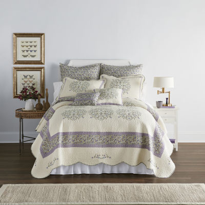 2 Available JC Penny Home Collection Quilt and Sham Set Twin