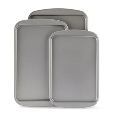 Cooks 3-PC. Cookie Sheet Set J-30801B, Color: Grey - JCPenney
