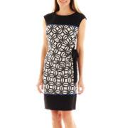 R&K Originals® Side-Tie Circle Print Sheath Dress