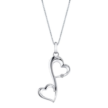 jcpenney.com | Love Grows™ Diamond-Accent Sterling Silver Heart Pendant Necklace