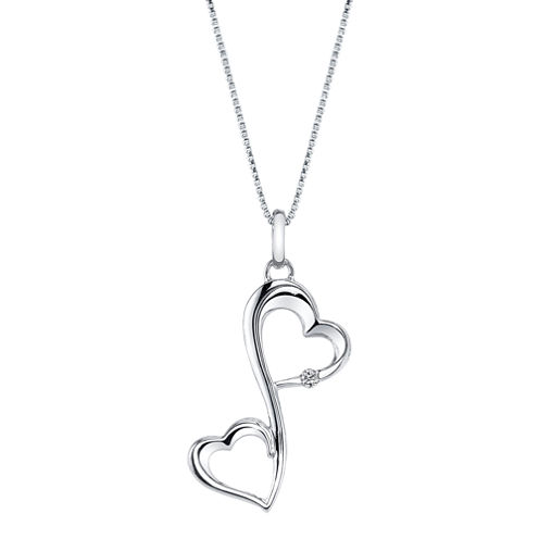 Love Grows™ Diamond-Accent Sterling Silver Heart Pendant Necklace