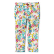 Little Maven™ by Tori Spelling Floral-Print Jeans - Girls 12m-5y