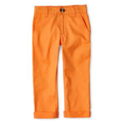 Little Maven by Tori Spelling Orange Twill Pants - Boys 12m-5y