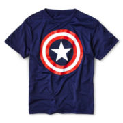 80s Captain America Graphic Poly Tee - Boys 6-18