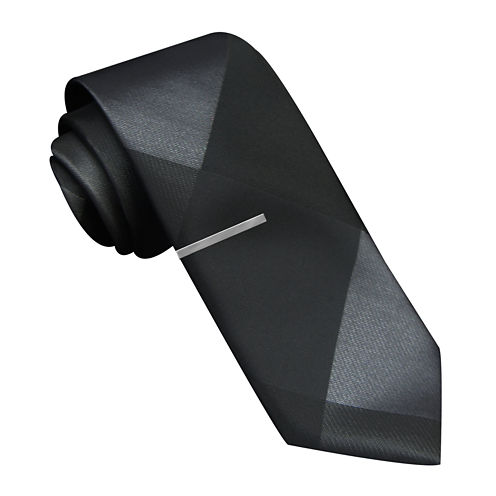 JF J. Ferrar® Pieced Panel Skinny Tie