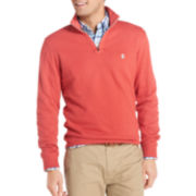 IZOD® French Rib Quarter-Zip Sweater