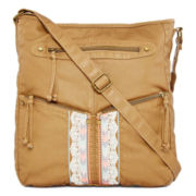 T-Shirt & Jeans™ Washed Embroidered Crossbody Bag
