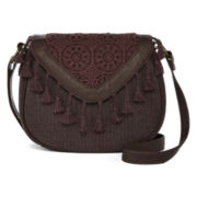 T-Shirt & Jeans™ Shades Of Calm Lace Mini Flap Crossbody Bag