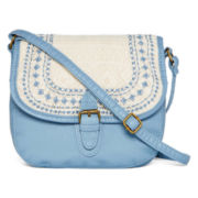 T-Shirt & Jeans™ Washed Mini Flap Crochet Hobo Bag