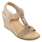 St. John's Bay® Loretta Wedge Sandals