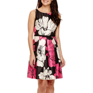 jcpenney.com | Danny & Nicole® Sleeveless Floral Fit-and-Flare Dress