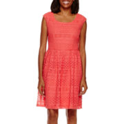 Ronni Nicole® Sleeveless Lace A-Line Dress