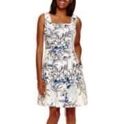 Danny & Nicole® Sleeveless Floral Fit-and-Flare Dress