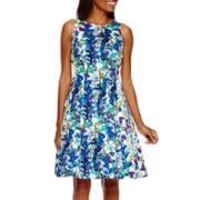 Ronni Nicole® Sleeveless Floral Fit-and-Flare Dress